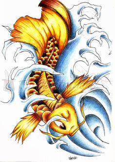 Koi Fish Tattoo Drawings   Inspiration Design Koi Fish Tattoo - FFIBIZZ.COM