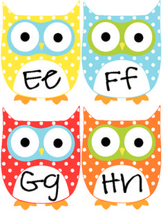 Cute Owl Word Wall thanks Amanda!! It's perfect! :)