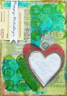 #artjournal page by Janna Werner