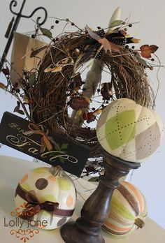 Fall Decorating Ideas - LOTS of cute stuff here!