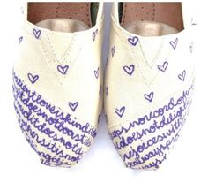 Purple with white. So excellent. Toms shoes.