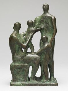 Henry Moore OM, CH 'Maquette for Family Group', 1945 © The Henry Moore Foundation. All Rights Reserved