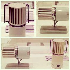 Mid-century desk fans designed by Reinhold Weiss for Braun.