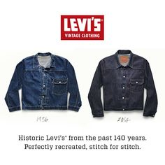 The Type 1 Jacket - Iconic for work or play. #LevisVintageClothing