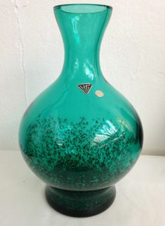 1970s Retro Mid Century Modern HG West Germany Hand Blown Green Vase, Stunning | eBay