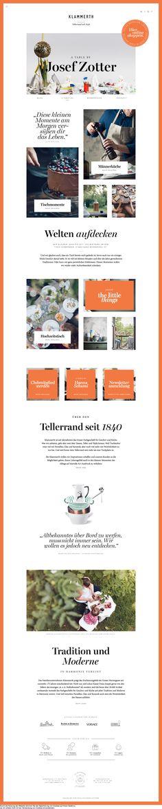 Klammerth restaurant website