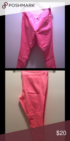 Mossimo  mid waist and straight skinny jeans Hot Pink Hot Fit...awesome skinny Mossimo Supply Co Jeans Skinny