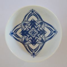 porcelain bowl with once-off blue decal Decal, Porcelain, Plates, Tableware, Blue, Beautiful, Licence Plates, Porcelain Ceramics, Dishes