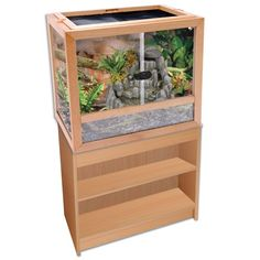 Penn Plax Wood Frame Stand For Rept1, 16 by 12 by 26 - Inch Constructed of Strong and Durable Medium Density Fiberboard. Compliment the Reptology Natural Wood Habitat. Easy to Assemble.  #Penn-Plax #Pet_Products