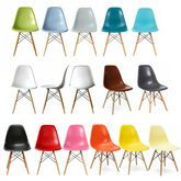 Dining Chair Eames Style Wood Base in mixed colours