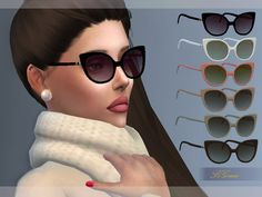 Sims 4 Updates: TSR - Accessories, Sunglasses / Glasses : Sunglasses by S4Grace, Custom Content Download!