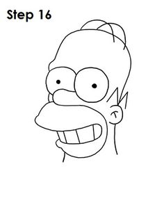 How to draw Homer Simpson (Cartoon) Cute Easy Drawings, Easy Cartoon Drawings, Art Drawings For Kids, Cartoon Sketches, Pencil Art Drawings, Art Drawings Sketches, Disney Drawings, Spongebob Drawings, Simpsons Drawings