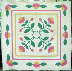 1930's Applique Medallion Quilt from Sharon's Antiques