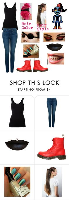 """""""Undyne (Undertale) © """" by khodionna ❤ liked on Polyvore featuring Theory, NYDJ and Dr. Martens"""