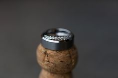 Chicago wedding photography, ring shot, champagne cork, Joanna Smith Photography, wedding details