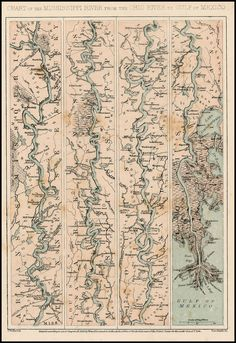 Chart of the Mississippi from the Ohio River to the Gulf of Mexico (1863)