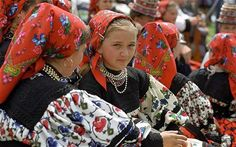 Young girls wear traditional Romanian costume at a local festival. Tour Around The World, People Of The World, Folk Costume, Costumes, Local Festivals, City People, Travel Tours, Bright Stars, Way Of Life