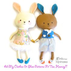 Dolls And Daydreams / Bunny Rabbit Sewing Pattern