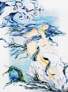 Water Naira Hart Elements Illustration