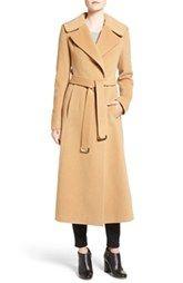 Diane Von Furtstenberg Wool Blend Maxi Wrap Coat