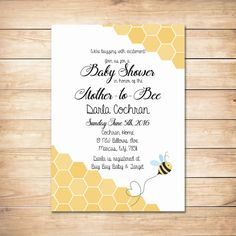 Love this baby shower theme bee baby shower invite by printable honey bee baby shower invitation by celebratepaperworks filmwisefo