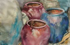 Ceramic jars I / Tinajas I - Watercolour / Acuarela