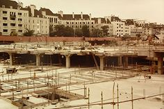 The British Library was separated from the British Museum in 1973, however it was not until 1997 that it was able to move into its new purpose built home in Kings Cross. This photograph by John Oram show just how much of an extensive project it was!