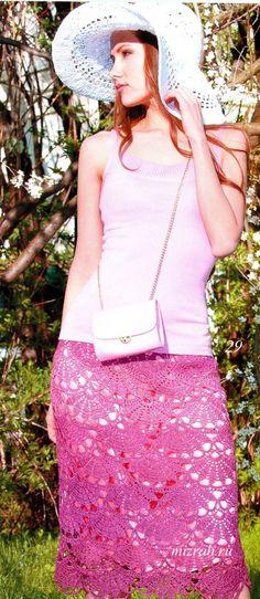 Oi amigas(os)!   Vejam que lindo o ponto dessa saia:       GRAFICO     FONTE: mizrah.ru     Achei o ponto parecido com o da pala dessa blus...