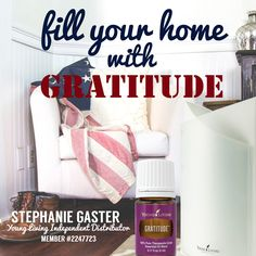 Foster a grateful attitude and embrace the blessings in your life. The uplifting aroma of Gratitude™ invites a feeling of emotional and spiritual progress.