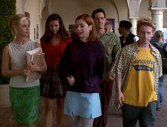 Buffy, Willow, Oz, Cordelia, and Xander