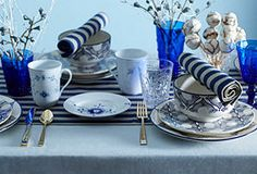 A Perfect Pair: Tableware in Blue & White