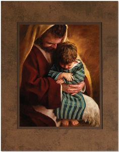 St Joseph and the child Jesus . God and Jesus Christ Catholic Art, Catholic Saints, Religious Art, Pictures Of Christ, Religious Pictures, Lds Pictures, Temple Pictures, Arte Lds, Immaculée Conception