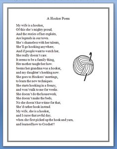 A Hooker Poem …
