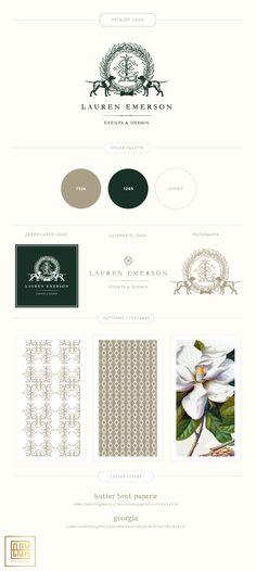Emily McCarthy Branding Lauren Emerson Branding Board
