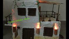 Instalación de antorchas para una casa de Belen