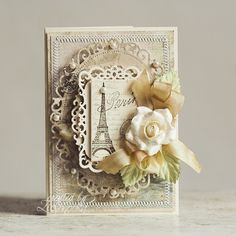 Spellbinders floral ovals shabby chic card/ For My handmade greeting cards visit… Shabby Chic Karten, Shabby Chic Cards, Paris Cards, Spellbinders Cards, Beautiful Handmade Cards, Pretty Cards, Card Tags, Flower Cards, Creative Cards