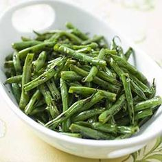 Green Beans sauteed in chicken broth - Love this recipe. Stole it from Kathy Ragan. I make it all the time. It's going to be my side for dinner tonight.