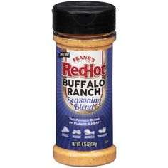 Frank's RedHot Seasoning Blend Buffalo Ranch, oz Popcorn Seasoning, Ranch Seasoning, Seasoning Mixes, Buffalo Ranch, Buffalo Wings, Cayenne Pepper Sauce, Pepperidge Farm Goldfish, Franks Red Hot, How To Grill Steak