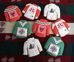 "Ugly Sweater Cookies  Needing ideas for a FUN Ugly Christmas Sweater Party check out ""The How to Party In An Ugly Christmas Sweater"" at Amazon.com"