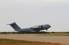 Opération Barkhane : Atlas A400M strategic transport - French Armée de l'Air's 5th delivered - makes series of supply deliveries to French and coalition forces in the central African campaign regions.