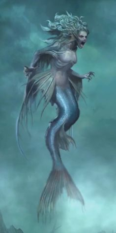 Awesome Scary Mermaid Sirens In 2018 Mermaid, Scary Mermaid Scary Mermaid, Siren Mermaid, Mermaid Art, Evil Mermaids, Fantasy Mermaids, Mermaids And Mermen, Mermaid Drawings, Mermaid Tattoos, Mermaid Paintings