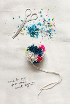 pom poms make fun gift toppers via designlovefest