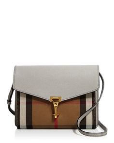 74deb2ccd57d Burberry Macken House Check Small Crossbody Handbags - Bloomingdale s