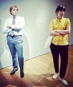Toi aussi joue-la comme Duane. #DuaneHanson #Salesman  #expo #sculpture #hyperréalisme #museobilbao #Bilbao  by @elvia_fouet #museumselfie #artselfie #exposelfie  #artcontemporain #BilbaoMuseum #museobellasartesbilbao #latergram