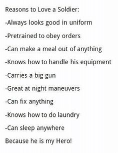 Reasons to date a marine
