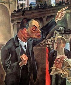 The Agitator (1920) Conrad Felixmüller (b. 21 May 1897 in Dresden - d. 24 March 1977 in Berlin)