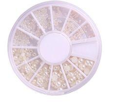 Fashion 3 Sizes Nail Art White Pearl Rhinestone DecorationWheel Nice White     Affilink Nail Art 0500e29a6704