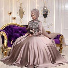 Muslimah Wedding Dress, Hijab Style Dress, The Dress, Silk Satin, Formal Dresses, Wedding Dresses, Kaftan, Hijab Fashion, Ball Gowns