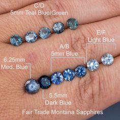 ... Teal / Blue Montana Sapphire Half Bezel Diamond Micro Pave Engagement Ring ...