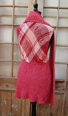 Chaleco abierto de algodón rosado incluye broche gratis por Ullvuna